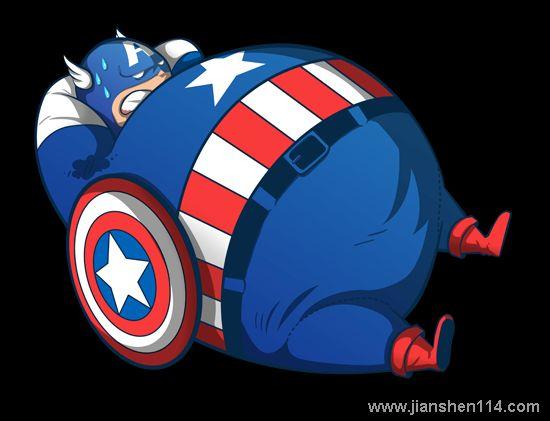 ... 的无影无踪了。来看看那些肥胖版的漫画人物吧